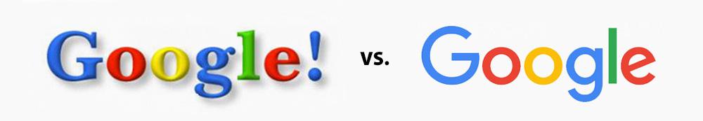 google vs google logo