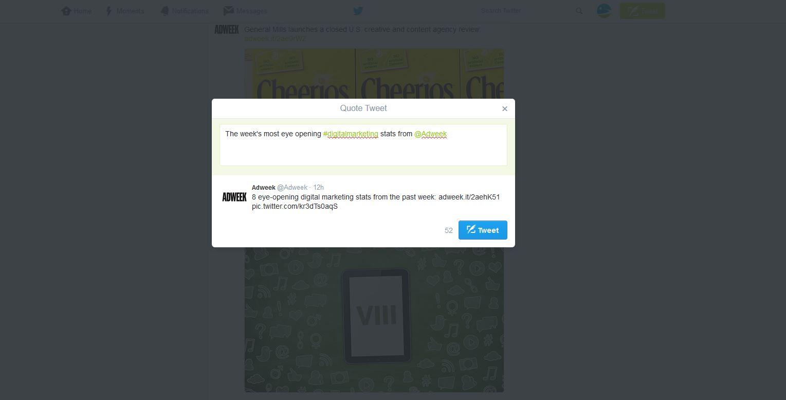 Retweet screenshot